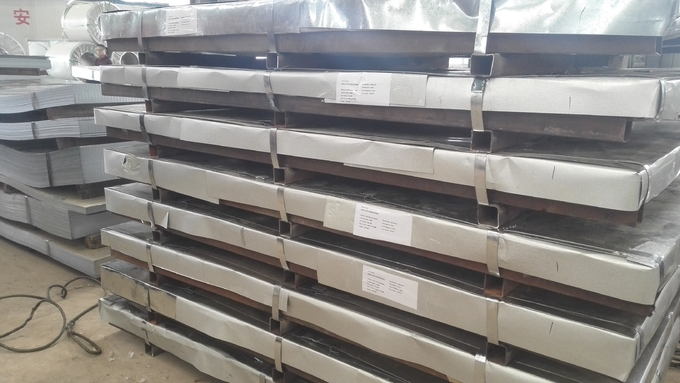Cold Rolled Steel Plate 6mm Thick Galvanized Steel Sheet Metal Minimum Spangle
